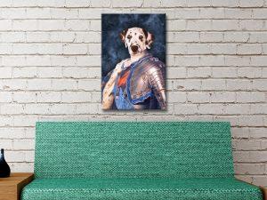 Buy Custom Dog Pet Portrait canvas print