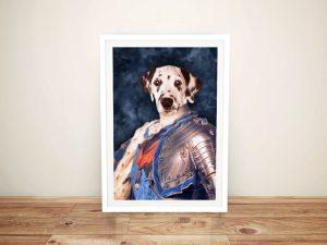 Dauphin of France Pet Portrait Framed Wall Art