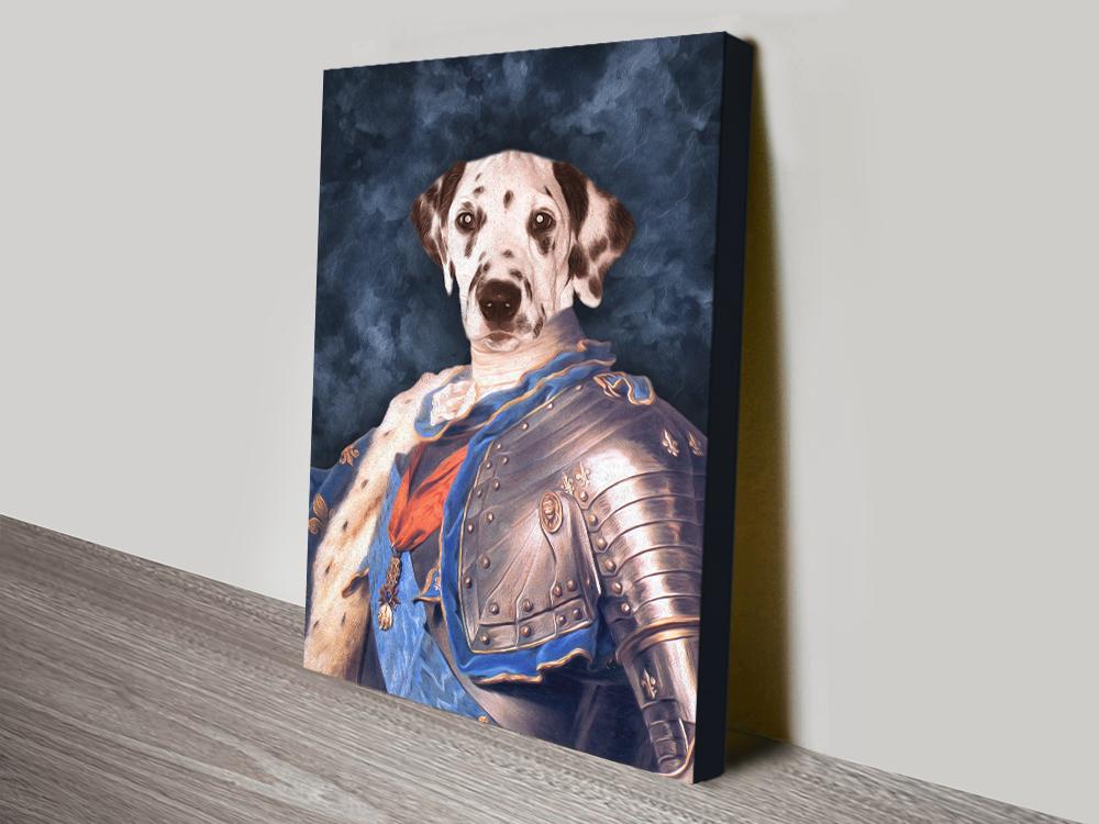 Dog Pet Portrait canvas print