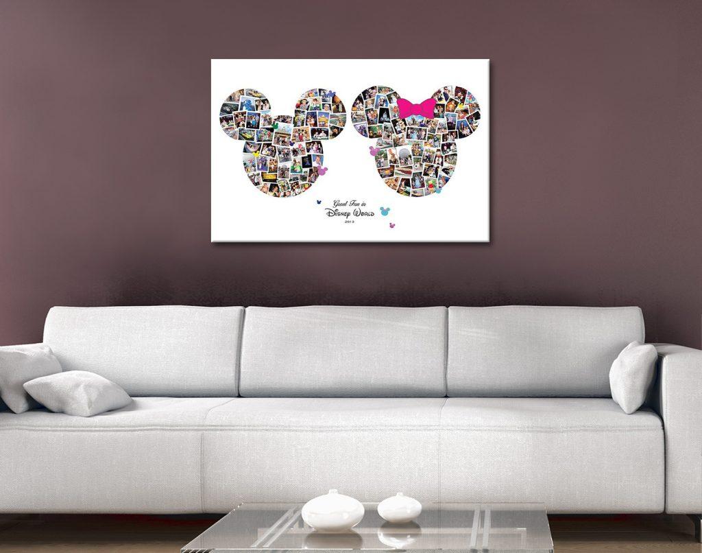 Disneyland Photo Collage Canvas Art