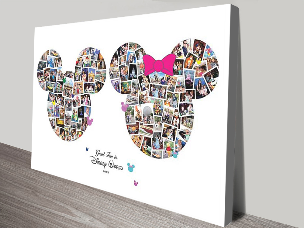 Disney Photo Collage canvas print | Mickey & Minnie Mouse Photo Collage
