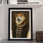 Dog-Portrait-Dame-Framed-Wall-Art