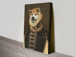 Buy Personalised Pet Portrait Canvas Wall Art