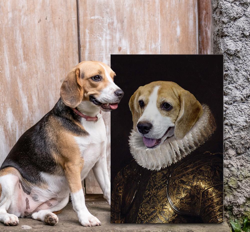 Buy Royal Dog Portrait Australia | Duke