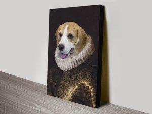 Personalised Pet Portrait Canvas