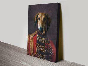 Custom Dog Portrait canvas print