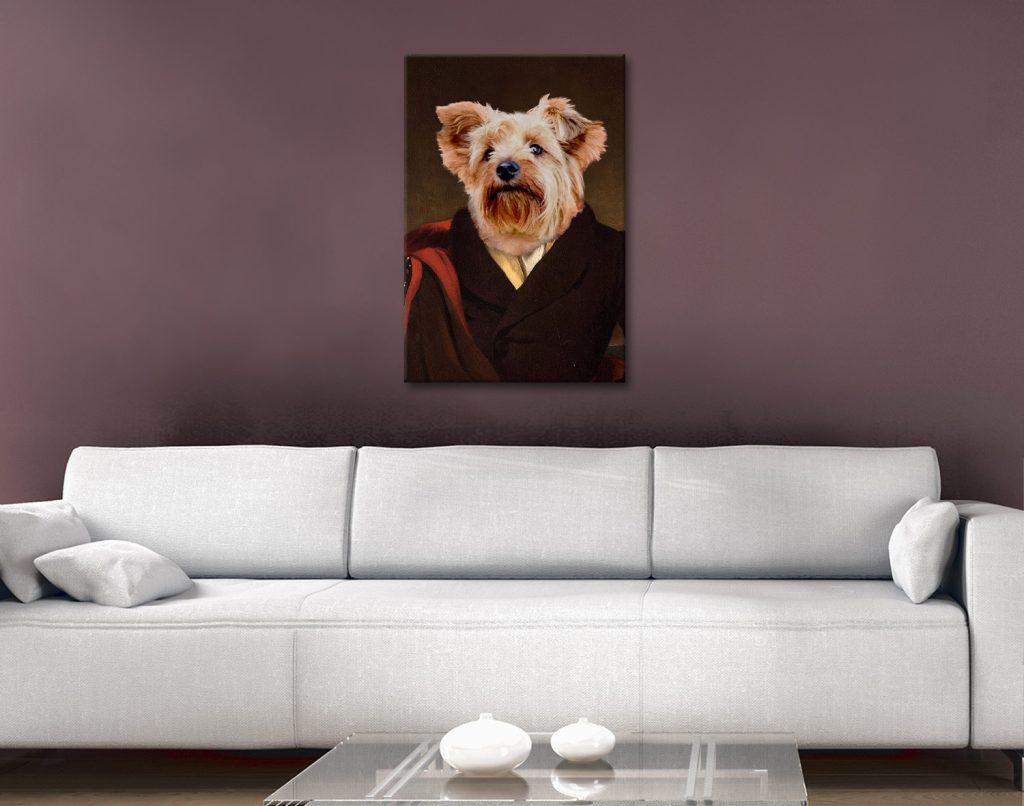Royal Dog Portrait Artwork