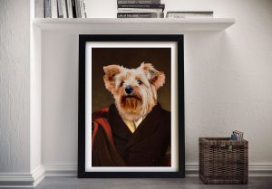 Customised Dog Portrait Marquess Wall Art