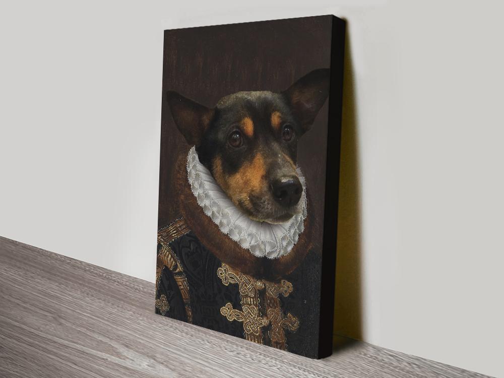 Dog Portrait Prince canvas art