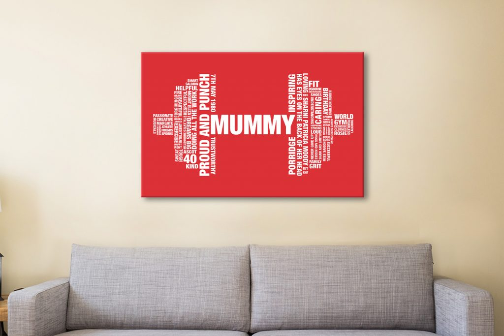 Dumbbell Outline Personalised Canvas Artwork