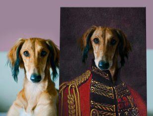 Personalised Pet Aristocracy Portrait Artwork