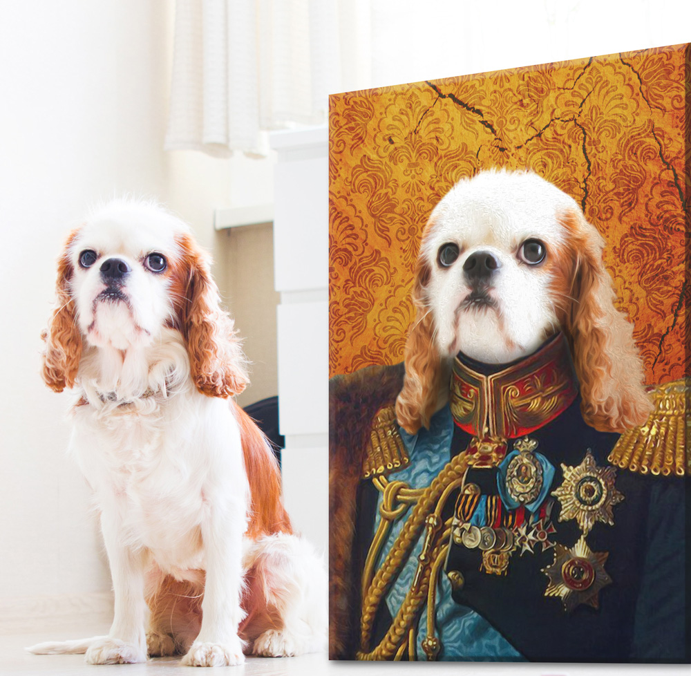 Custom Dog Pet Aristocracy Portrait | The General