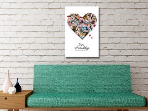 Ready to Hang Personalised Heart Collage Art AU