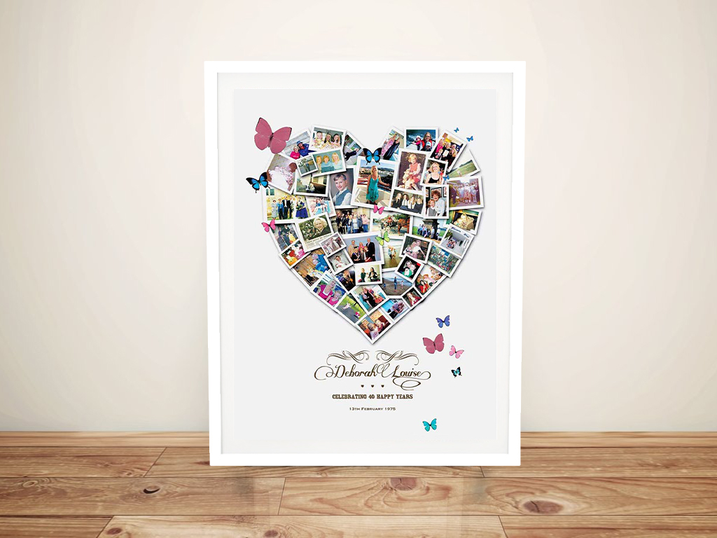 Personalised Heart Celebrations Photo Collage | Heart Celebrations Photo Collage