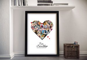 Framed Heart Collage Art Great Gifts for Girls AU