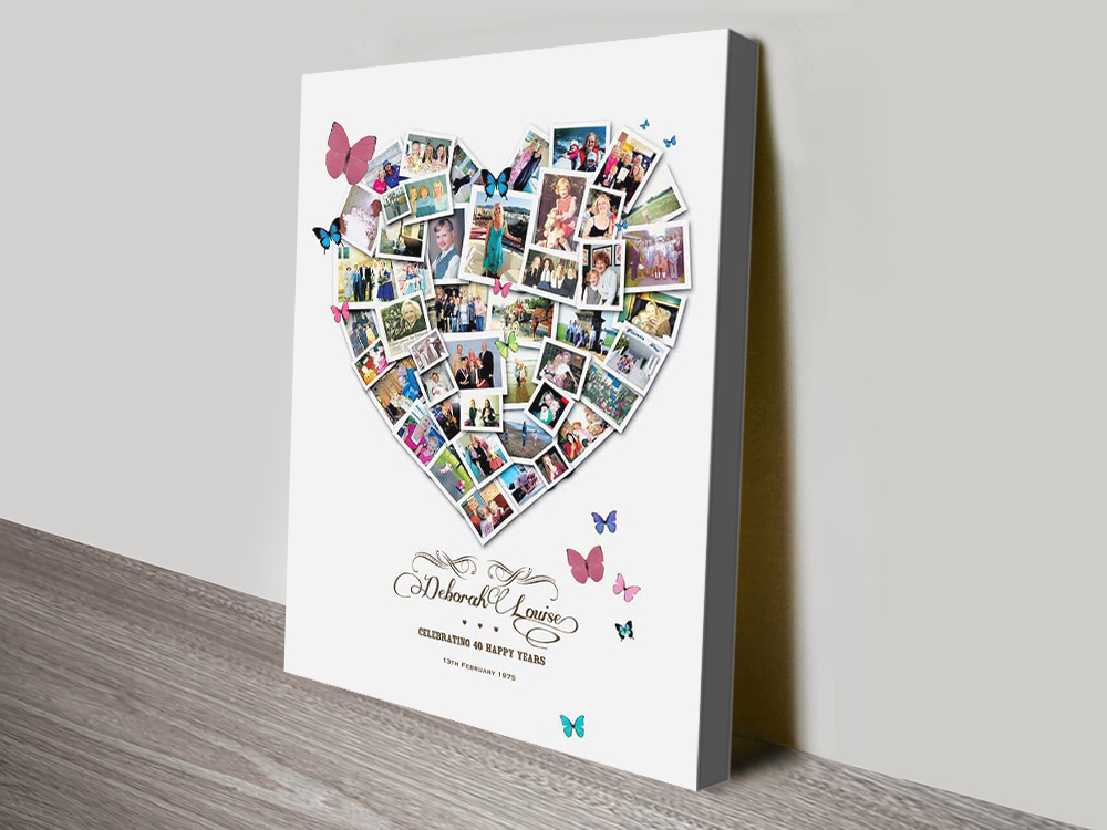 Heart Collage canvas print