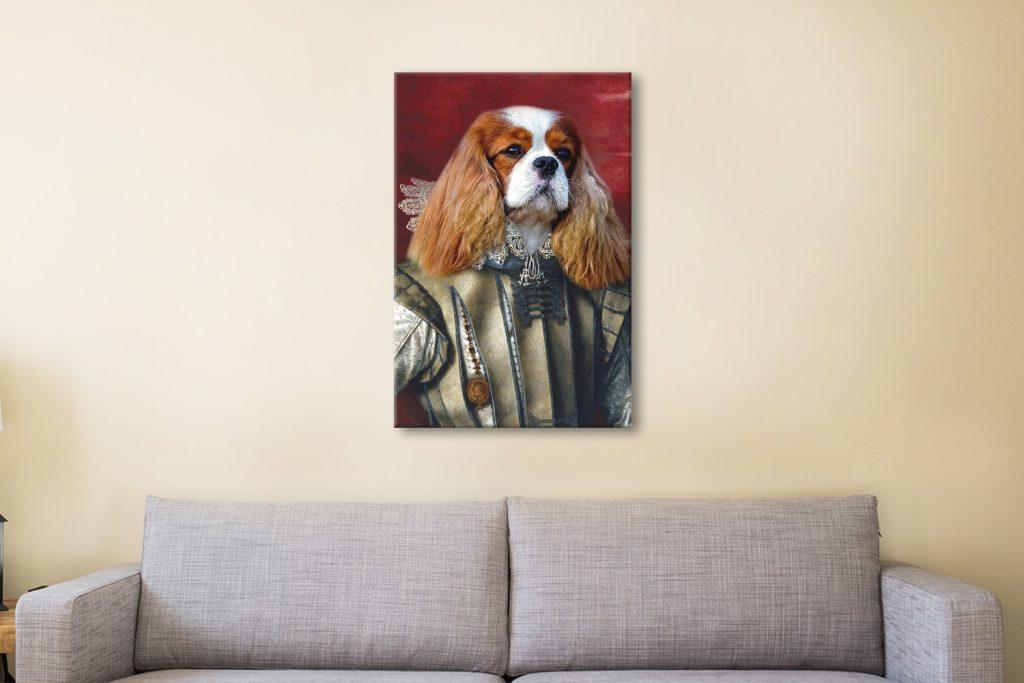 Personalised Royal Dog Portrait Artwork
