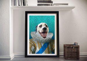 King of France Pet Portrait Wall Art