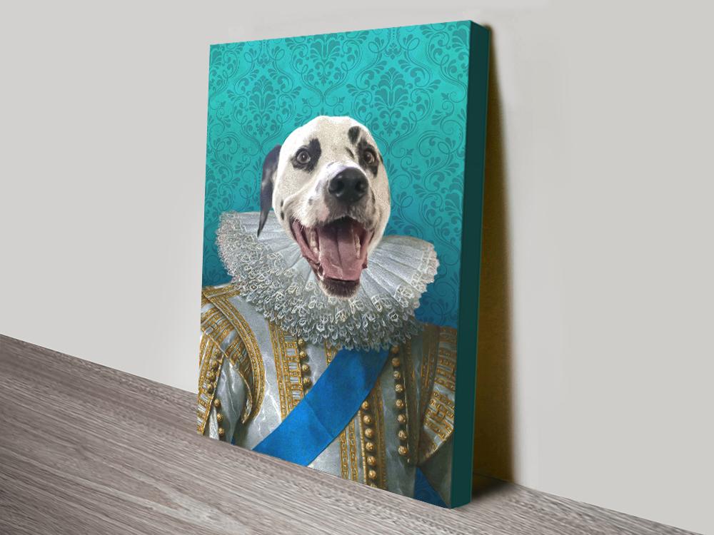 Buy King Pet Portrait canvas print