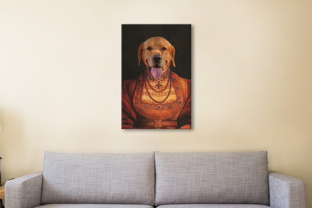 Buy a Ready to Hang Lady Dawg Pet Portrait