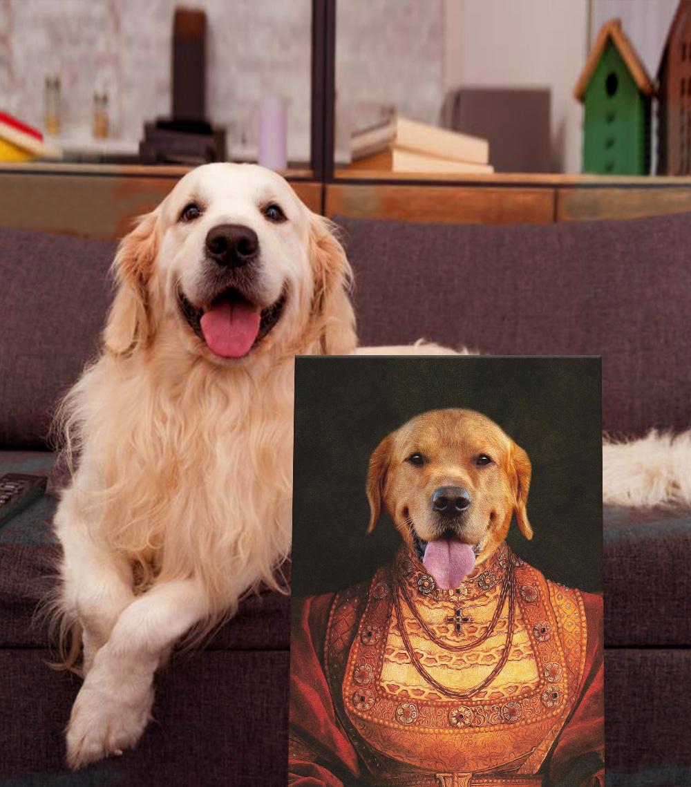 Buy a Personalised Lady Dawg Pet Portrait   Lady Dawg