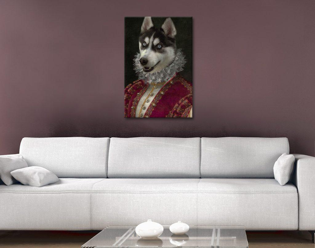 Marchioness Custom Dog Portrait canvas print
