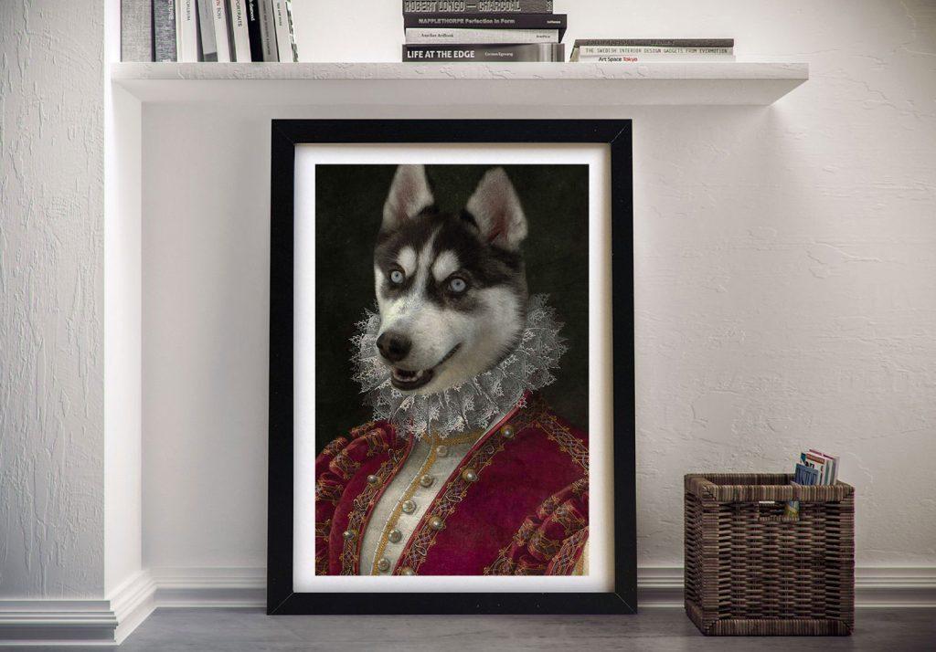 Marchioness Framed Pet Portrait Art