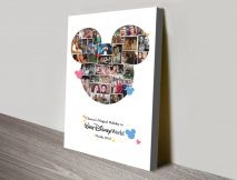 Mickey Mouse Photo Collage Print on Canvas