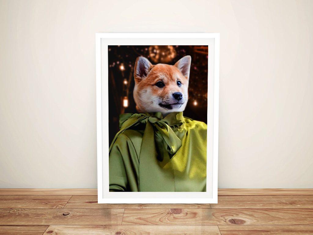 Buy Ready to Hang Fashionista Custom Pet Art
