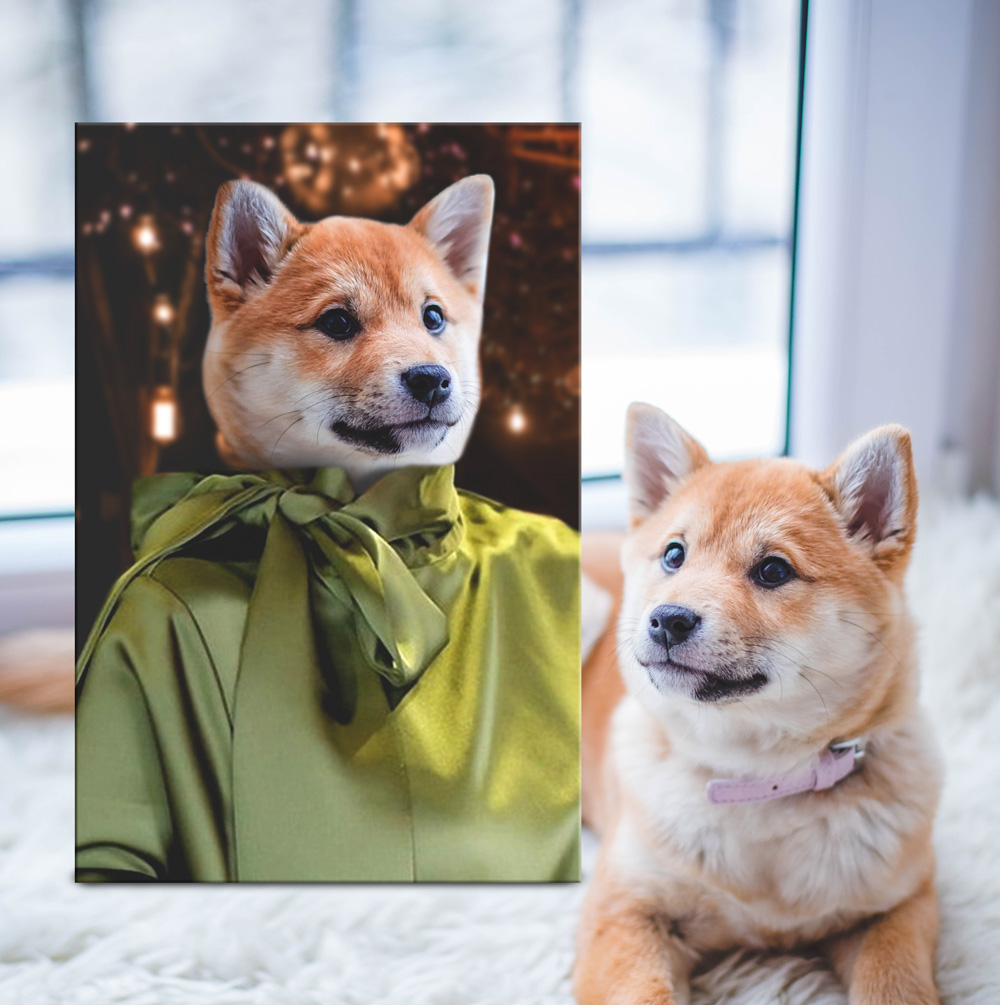 Buy a Custom Fashionista Canvas Pet Portrait