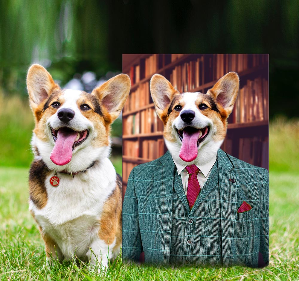 Suited Dog Artwork