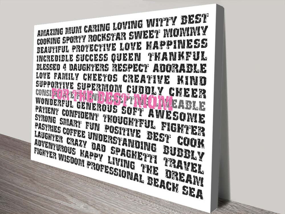Mother's Day canvas print | The Best Mum