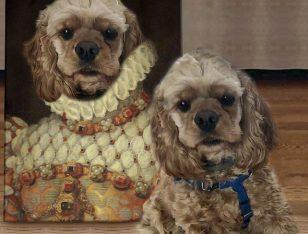 Dog Personalised Pet Portrait Canvas PrinT