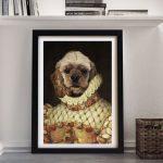 Custom-Dog-Portrait-Spaniel-Framed-Art