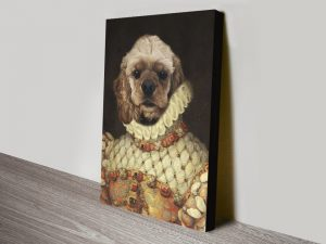 Custom Dog Portrait Spaniel Canvas Print