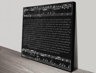 Personalised Song Lyrics Art Print