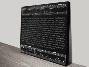 Personalised Song Lyrics Art Print