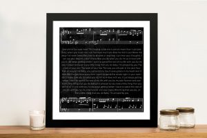 Buy Personalised Song Lyrics Art
