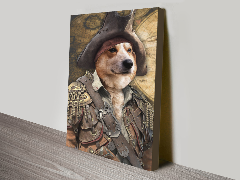 Pirate Pet Portrait Canvas Print
