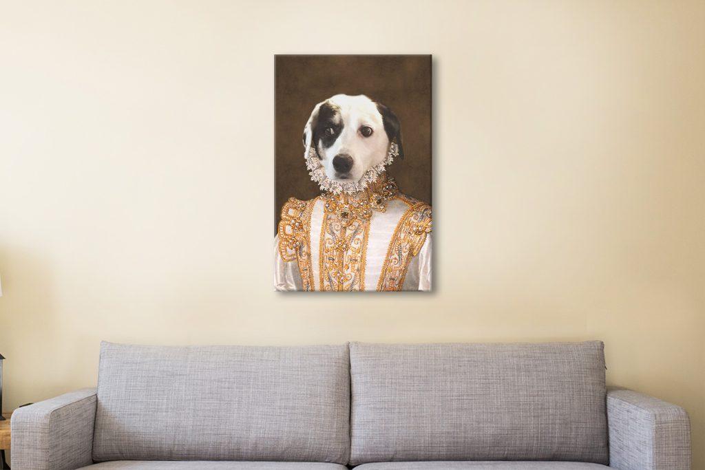 Princess Pet Portrait Wall Art Canvas Artwork