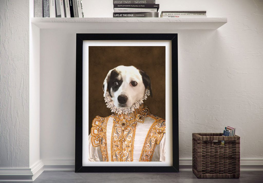 Princess Pet Portrait Framed Wall Art