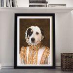 Princess Pet Portrait -Framed-Wall-Art