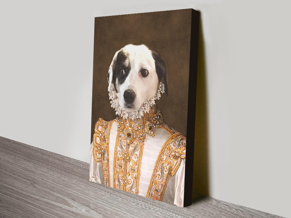 Princess Pet Portrait canvas print