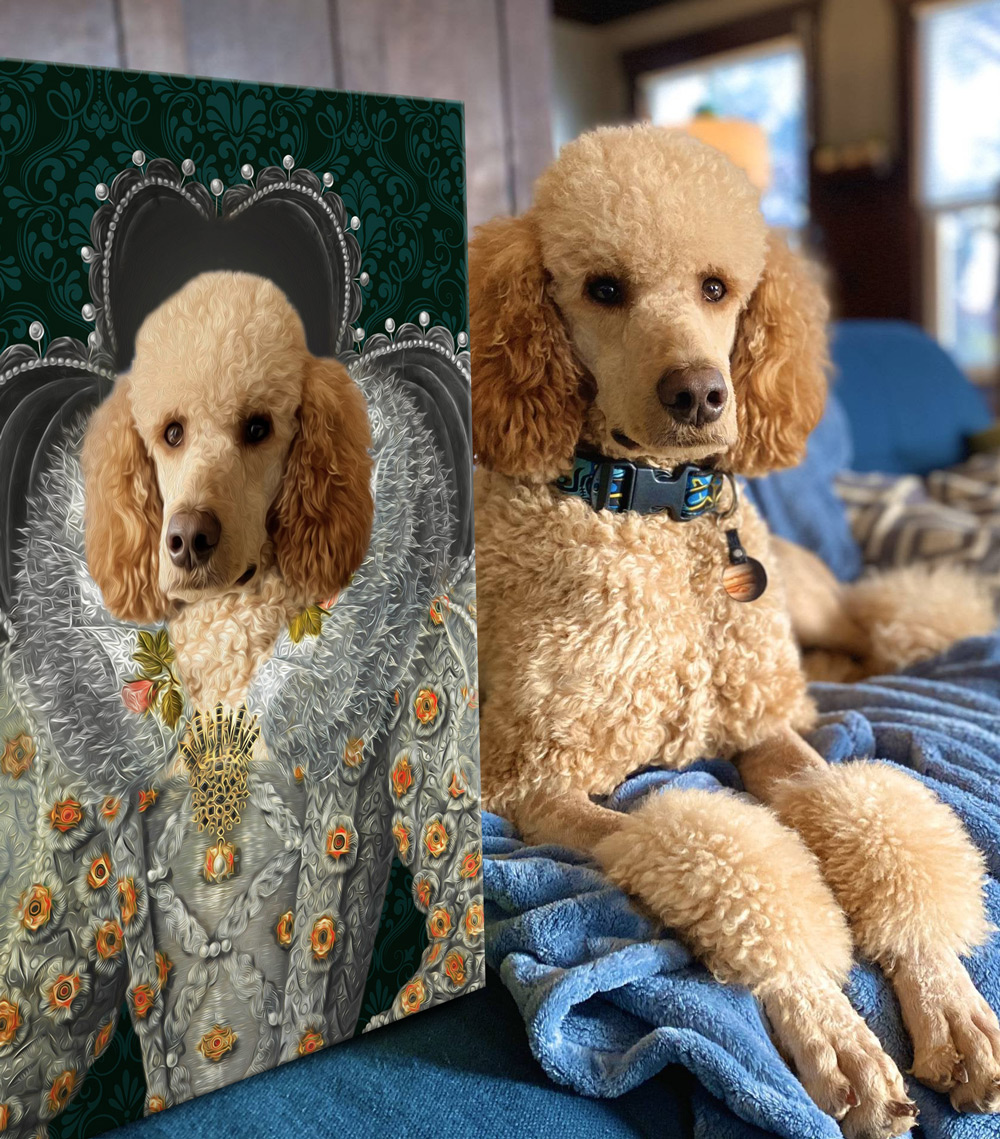 Queen Elizabeth Custom Pet Portrait | Queen Elizabeth