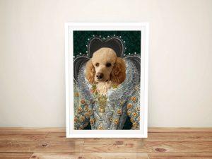 Queen Elizabeth Pet Portrait Art Brisbane