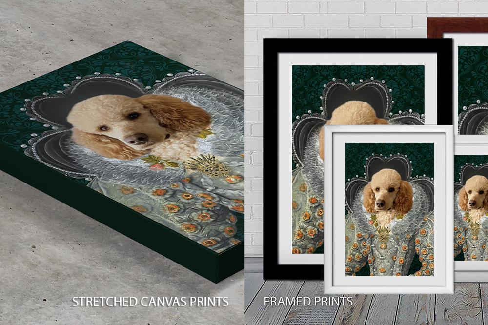 Queen Elizabeth Pet Portrait Quality Art Print