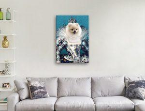Buy Ready to Hang Custom Queen Pet Portraits