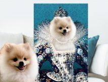 Buy Regal Personalised Pet Portrait Canvas Art