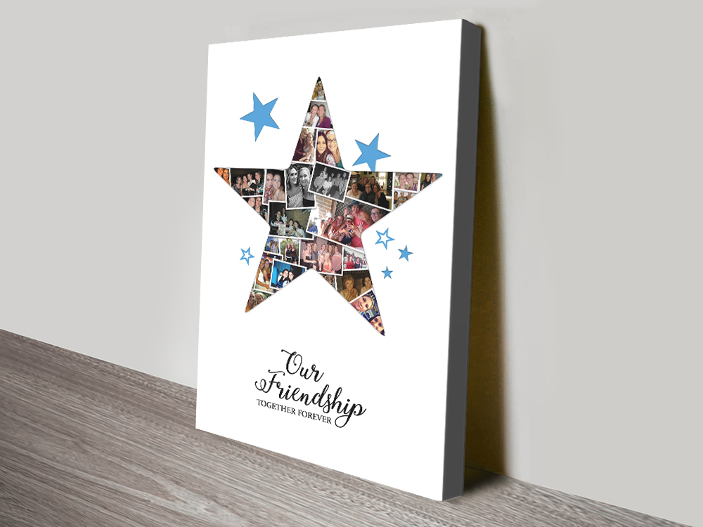 Ready to Hang Custom Star Collage Art Online