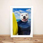 Buy-Unique-Surfer-Pet-Portrait-Art-Cheap-Online
